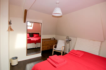 Gite Lily Bedroom. Holiday rental accommodation Normandy. France.