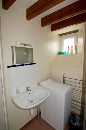 Gite Lily bathroom in Normandy, France. 2 bed. Sleeps 4.