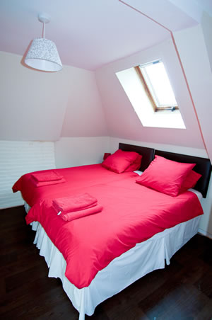 Gite Lily. Normandy. Double bedroom. Sleeps 4.
